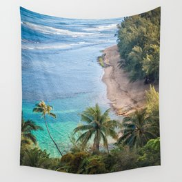 Beach Palm Trees Kauai Wall Tapestry