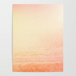 Modern abstract orange summer ombre pattern Poster
