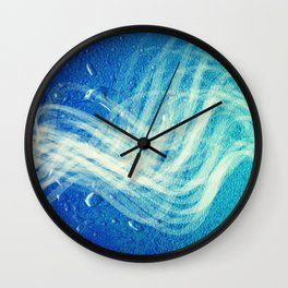 Linear Flow2-Blue Gradation Wall Clock
