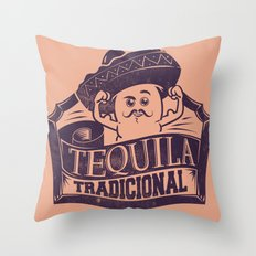 Tequila Tradicional Throw Pillow