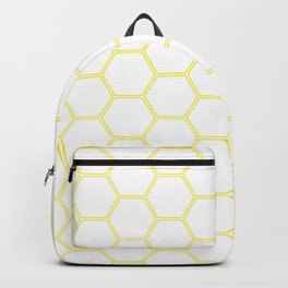 Geometric Honeycomb Pattern - Yellow #164 Backpack