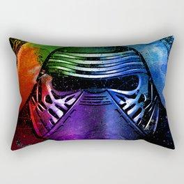 Kylo Ren the Force Awakens Sci-fi Fan Art - Digital Splash Painting Rectangular Pillow