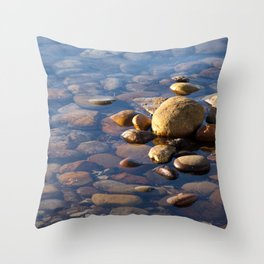 Pebble Stones by the Sea 7738 Throw Pillow