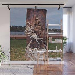 Driftwood Flower Lady Wall Mural