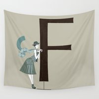 florence Wall Tapestries featuring Florence & Optima by ChicksAndType
