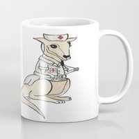nurse Mugs featuring Nurse Roo by Sharayah P