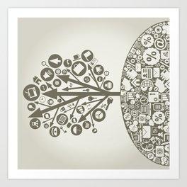 Business arrow Art Print