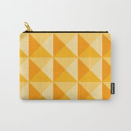 Geometric Prism in Sunshine Yellow Carry-All Pouch