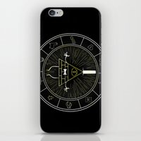 bill cipher iPhone & iPod Skins featuring BILL CIPHER  by Danger Child