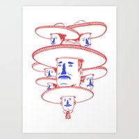 band Art Prints featuring The Mariachi Band by David Penela