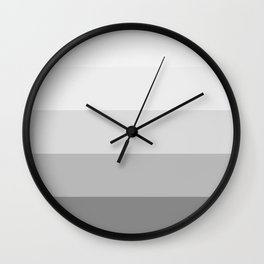 Gray Ombre Stripes Wall Clock