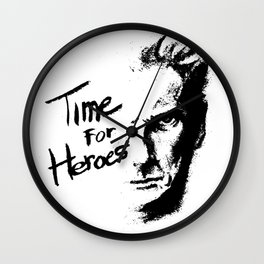 Time for Heroes Wall Clock