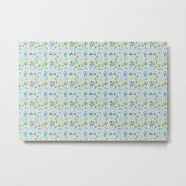 Flower Spring Pattern Metal Print