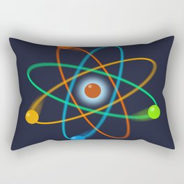 Atomic Structure Cool Science Graphic Art Illustration Rectangular Pillow