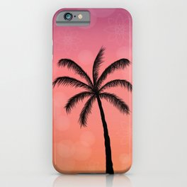 Tropical Sunset - Palm Tree Silhouette  iPhone Case