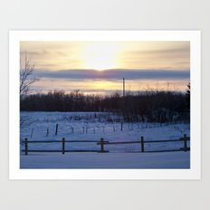 in the middle of nowhere i found myself Art Print