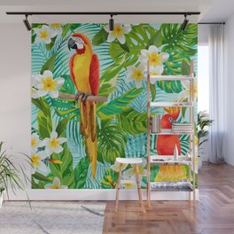 Tropical Parrot Chillin Wall Mural