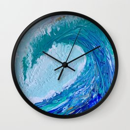 """""""Pacific Wave"""" by Laurie Ann Hunter Wall Clock"""