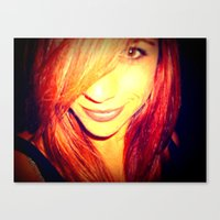 redhead Canvas Prints featuring Redhead by Dolceevil