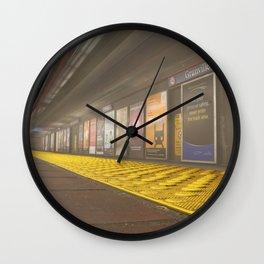 Motion Blur Granville Skytrain 3 Wall Clock