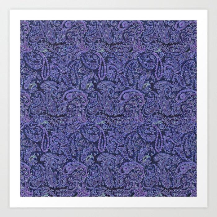 purple paisley Kunstdrucke