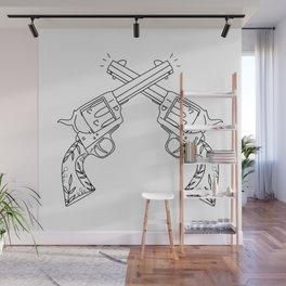 Botanical Revolvers Wall Mural