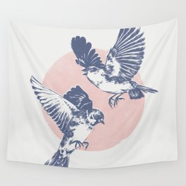 Sparrows II Wall Tapestry