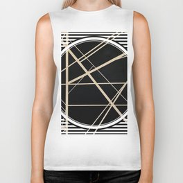 Crossroads - circle/line graphic Biker Tank