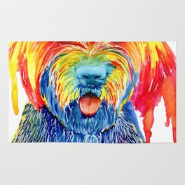 Colorful Tie Dye Wirehaired Pointing Griffon Rug