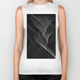 Black and White Flux #minimalist #homedecor #generativeart Biker Tank