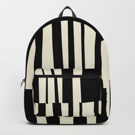 BW Oddities III - Black and White Mid Century Modern Geometric Abstract Backpack