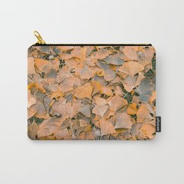 Fallen Gingko Leaves Carry-All Pouch