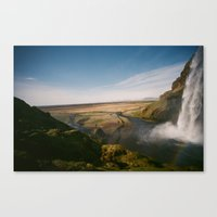 iceland Canvas Prints featuring Iceland by Tara Holland