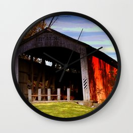 Neet Covered Bridge ~ Rockville, Indiana Wall Clock