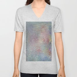 Abstract 137 Unisex V-Neck