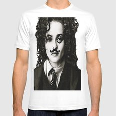 Helena Bonham... Chaplin? Mens Fitted Tee MEDIUM White
