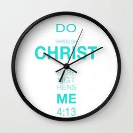 4:13 Philippians Wall Clock