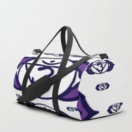 "PURPLE SANSKRIT CHAKRAS  PSYCHIC WHEEL ""SEE"" Duffle Bag"