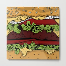 Cheeseburger Metal Print