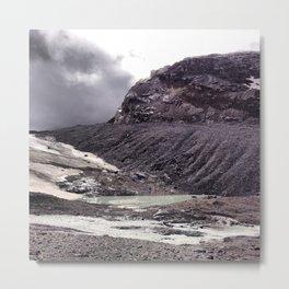 Misty Pond Metal Print