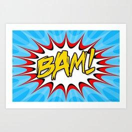 """""""BAM!"""" Pop Art Poster Art Print"""