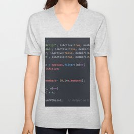 Java script Unisex V-Neck