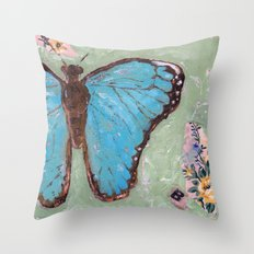 Take Flight Butterfly Throw Pillow