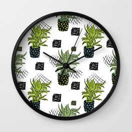 Potted House plant Wall Clock