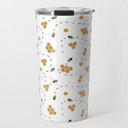 honey bee pattern Travel Mug