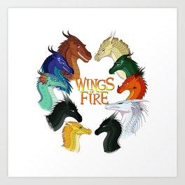 Love Wings of Fire Art Print