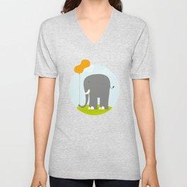 An Elephant With a Peanut Balloon Unisex V-Neck