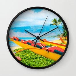 Hui wa'a O Kihei Wall Clock