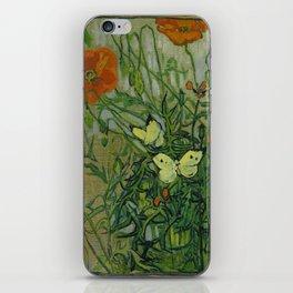 "Vincent Van Gogh ""Butterflies and Poppies"" iPhone Skin"