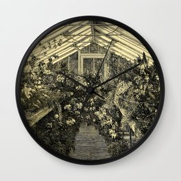 Mr. Normans Show-House for Orchids 1877 Wall Clock